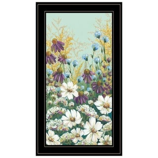 """Floral Field Day"" by Michele Norman, Ready to Hang Framed Print, Black Frame"