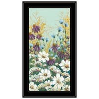 """""""Floral Field Day"""" by Michele Norman, Ready to Hang Framed Print, Black Frame"""