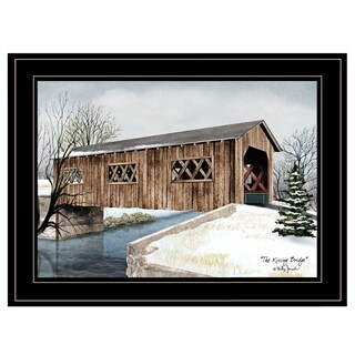 """The Kissing Bridge"" by Billy Jacobs, Ready to Hang Framed Print, Black Frame"