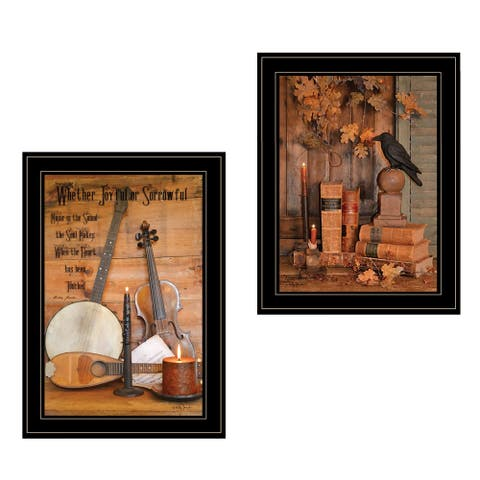 """""""Music / Nevermore"""" 2-Piece Vignette by Billy Jacobs, Black Frame"""