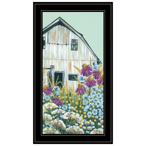 """""""Field Day on the Farm"""" by Michele Norman, Ready to Hang Framed Print, Black Frame"""