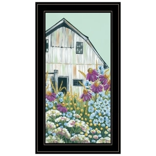 """Field Day on the Farm"" by Michele Norman, Ready to Hang Framed Print, Black Frame"