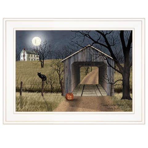 """Sleepy Hollow Bridge"" by Billy Jacobs, Ready to Hang Framed Print, White Frame"