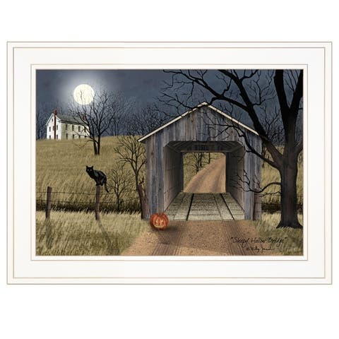 """""""Sleepy Hollow Bridge"""" by Billy Jacobs, Ready to Hang Framed Print, White Frame"""
