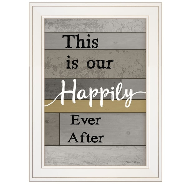 """""""Happily Ever After"""" by Karen Tribett, Ready to Hang Framed Print, White Frame"""