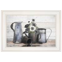 """Floral Farmhouse I"" by Robin-Lee Vieira, Ready to Hang Framed Print, White Frame"