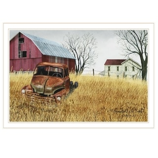 """""""Granddad's Old Truck"""" by Billy Jacobs, Ready to Hang Framed Print, White Frame"""