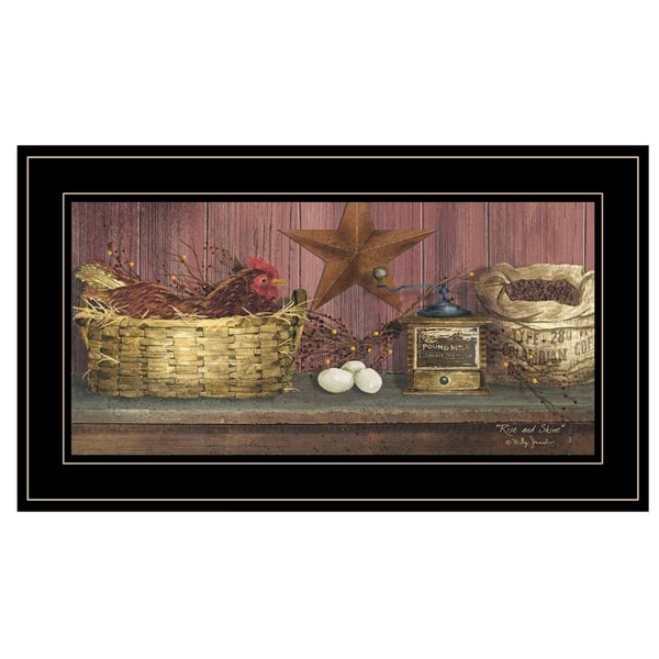 """""""Rise and Shine"""" by Billy Jacobs, Ready to Hang Framed Print, Black Frame"""