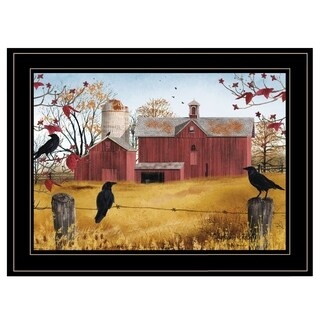 """Autumn Gold"" by Billy Jacobs, Ready to Hang Framed Print, Black Frame"