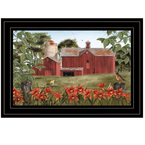 """""""Summer Days"""" by Billy Jacobs, Ready to Hang Framed Print, Black Frame"""