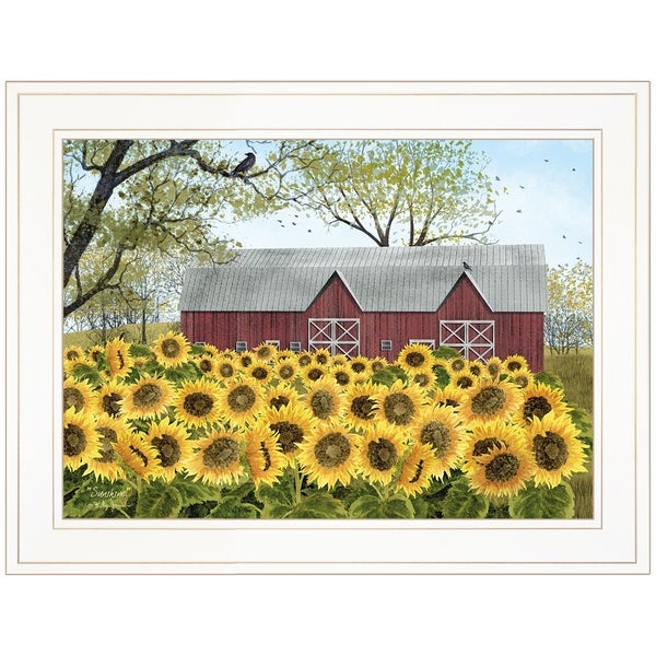 """Sunshine"" by Billy Jacobs, Ready to Hang Framed Print, White Frame"