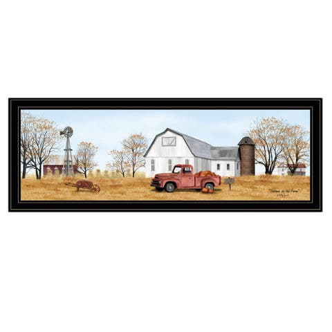 """""""Autumn on Farm"""" by Billy Jacobs, Ready to Hang Framed Print, Black Frame"""