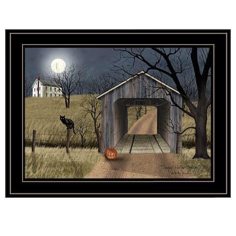 """Sleepy Hollow Bridge"" by Billy Jacobs, Ready to Hang Framed Print, Black Frame"