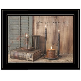 """Let Your Light Shine"" by Billy Jacobs, Ready to Hang Framed Print, Black Frame"