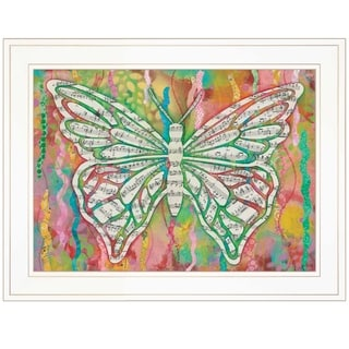 """""""Butterfly Silhouette"""" by Lisa Morales, Ready to Hang Framed Print, White Frame"""