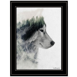 """Wolf Stare"" by Andreas Lie, Ready to Hang Framed Print, Black Frame"