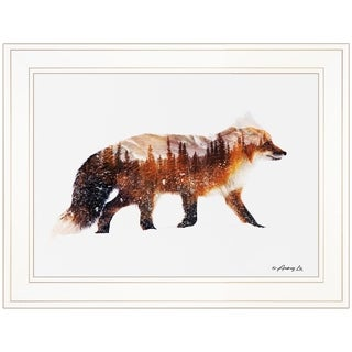 """""""Arctic Red Fox"""" by Andreas Lie, Ready to Hang Framed Print, White Frame"""