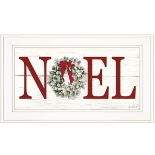 """Christmas Noel"" by Lori Deiter, Ready to Hang Framed Print, White Frame"