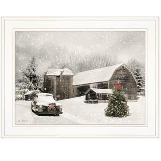 """Farmhouse Christmas"" by Lori Deiter, Ready to Hang Framed Print, White Frame"