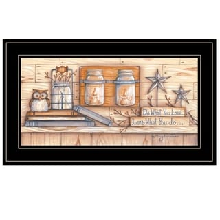 """""""Do What You Love"""" by Mary June, Ready to Hang Framed Print, Black Frame"""