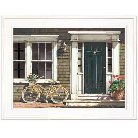 """""""Parked Out Front"""" by John Rossini, Ready to Hang Framed Print, White Frame"""