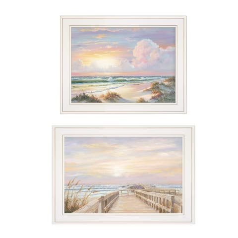 """Sunrise-Sunset"" 2-Piece Vignette by Georgia Janisse, White Frame"