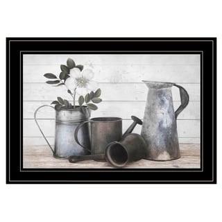 """Floral Farmhouse II"" by Robin-Lee Vieira, Ready to Hang Framed Print, Black Frame"