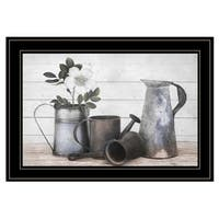 """Floral Farmhouse II"" by Robin-Lee Vieira, Ready to Hang Framed Print, Black Frame"