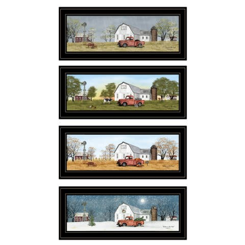 """Billy Jacobs Four Seasons Collection V"" 4-Piece Vignette, Black Frame"