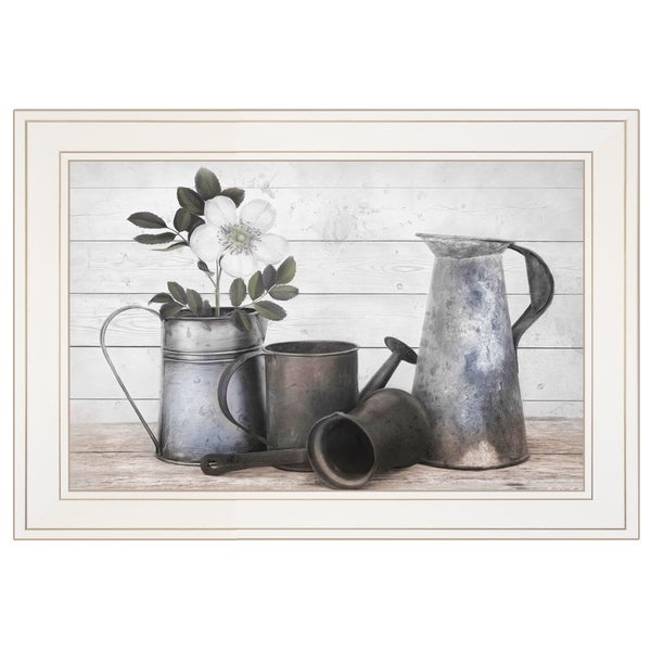 """""""Floral Farmhouse II"""" by Robin-Lee Vieira, Ready to Hang Framed Print, White Frame"""