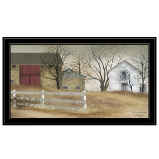 """""""The Old Stone Barn"""" by Billy Jacobs, Ready to Hang Framed Print, Black Frame"""