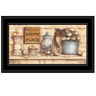 """""""My Happy Place"""" by Mary Ann June, Ready to Hang Framed Print, Black Frame"""