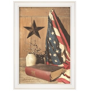 """God and Country"" by Billy Jacobs, Ready to Hang Framed Print, White Frame"