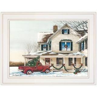 """""""Preparing for Christmas"""" by John Rossini, Ready to Hang Framed Print, White Frame"""
