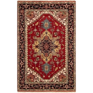 ECARPETGALLERY Hand-knotted Serapi Heritage Red Wool Rug - 5'11 x 9'3