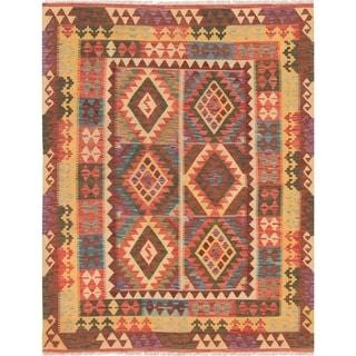 eCarpetGallery  Flat-weave Hereke FW Red Wool Kilim - 5'4 x 6'9