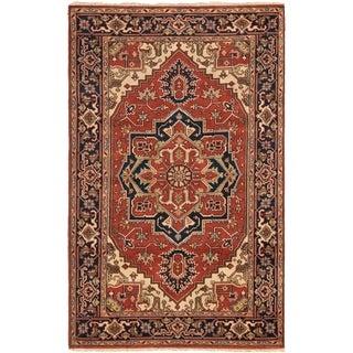 ECARPETGALLERY Hand-knotted Serapi Heritage Dark Copper Wool Rug - 5'2 x 8'3