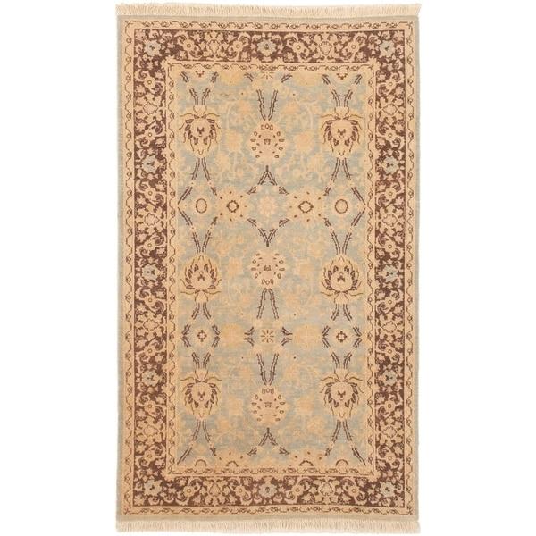 ECARPETGALLERY Hand-knotted Peshawar Finest Light Blue Wool Rug - 3'2 x 5'4