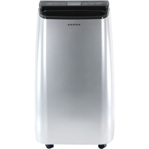 Amana Portable Air Conditioner with Remote Control in Silver/Gray for Rooms up to 350-Sq. Ft.