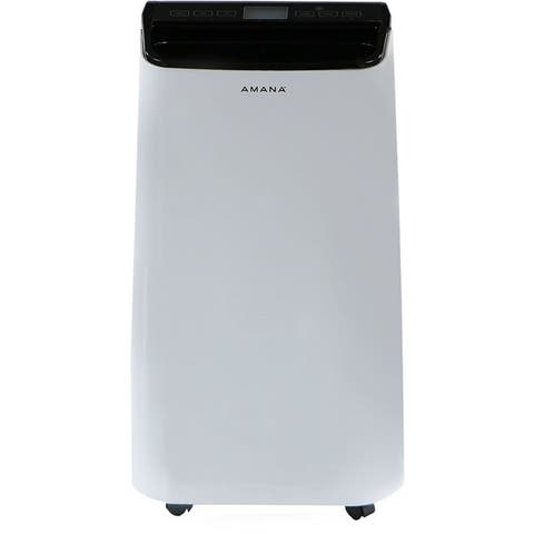 Amana Portable Air Conditioner with Remote Control in White/Black for Rooms up to 250-Sq. Ft.