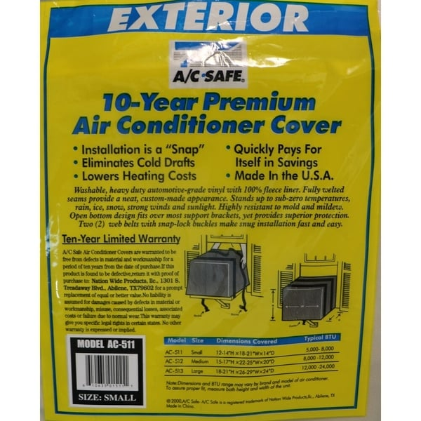 A/C Safe Exterior Cover for Small Window Air Conditioners