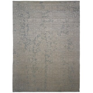 """Erase, Hand Knotted Area Rug - 8' 10"""" x 12' 0"""" - 8'10"""" x 12'"""