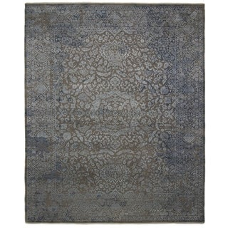 Contemporary Transitional One-of-a-Kind Hand-Knotted Area Rug - 8 x 10