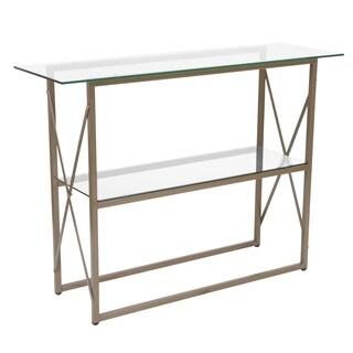 Silver Orchid Conklin Glass Console Table