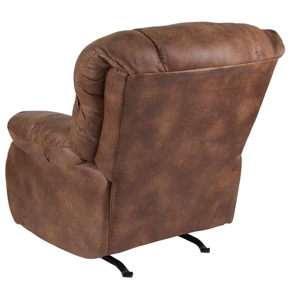 Astounding Shop Copper Grove Vovchansk Brown Fabric Reclining Rocker Machost Co Dining Chair Design Ideas Machostcouk