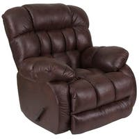 Lancaster Home Brown Fabric Rocker Recliner