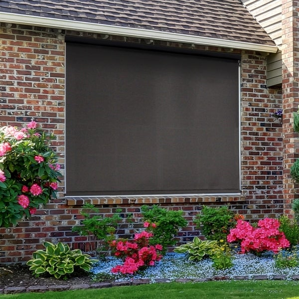 Premium Cordless Outdoor Sun Shade with Aluminum Valance. Opens flyout.