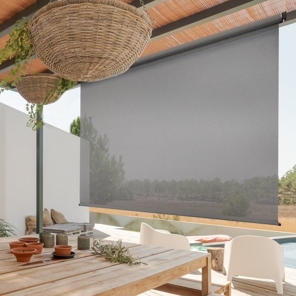 Premium Cordless Outdoor Sun Shade. Opens flyout.