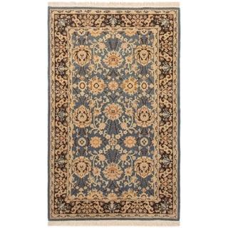 ECARPETGALLERY Hand-knotted Peshawar Finest Light Denim Blue Wool Rug - 3'1 x 5'2