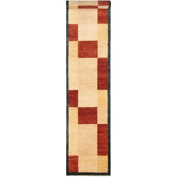 ECARPETGALLERY Hand-knotted Finest Ziegler Chobi Red Cream Wool Rug - 2'5 x 16'3